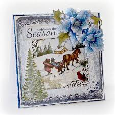 A Stepper Card Using The New Tonic Christmas Tree Rococo Die And Create And Craft Christmas