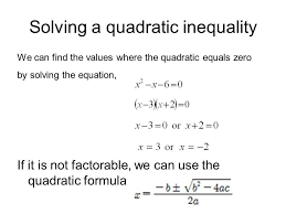 solving quadratic inequalities worksheet also word problem worksheet questions ppt