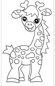 Pagina Da Colorare Giraffa Per I Picco Cute Per Disegni Da Colorare