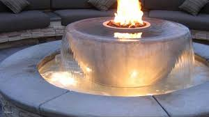 pit table outdoor fountain ideas fire diy propane classy
