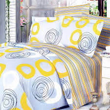 yellow whirl 100 cotton 7pc bed in a bag king size