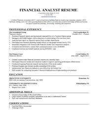 Financial Resumes Examples Financial Analyst Resume Example Financial Operations Analyst Resume 11