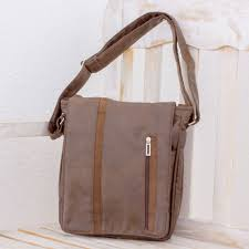 faux leather messenger bag in mahogany from costa rica tica exploration