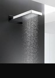 glass chrome rain shower head