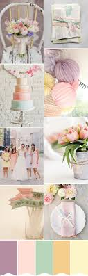 Pastel Tulip Wedding Colour Palette from One Fab Day