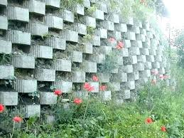wall cinder block ideas decorative best concrete retaining on