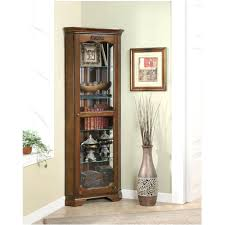 small curio cabinets wall cabinet with glass doors short corner