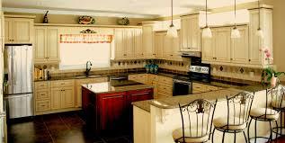 country kitchen yellow island