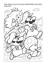 Small Picture Mario Bross Coloring Pages Barriee