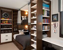 ... Storage For Small Bedrooms Wonderful Home Interior Bedroom Remodeling  Ideas White Wooden And Hardwood Bookshelf Connected Literarywondroustorage  ...