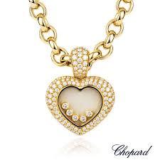 18k yellow gold chopard happy diamonds heart pendant 79 6602 20 rich diamonds of bond street