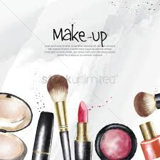 make up cosmetics wallpaper vector graphic