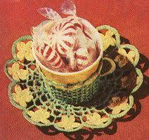 Decorative Cups And Saucers Decorative Cup Saucer Free Crochet Pattern KarensVariety 96