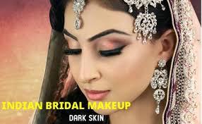 um wheatish skin indian bridal makeup dark skin