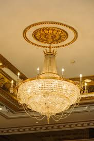 close up of a beautiful crystal chandelier