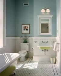 image result for chair rail bathroom tile