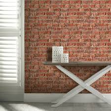 arthouse urban brick pattern wallpaper faux effect realistic house stone 696600