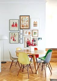 colorful kitchen chairs colored set up round dining table bright