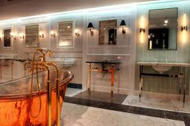 unique bathroom lighting fixtures. modern bathroom light fixtures design ideas with contemporary round spacious bathtub also unique colorful lighting s