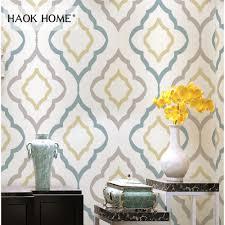 Haokhome Moderne Geometrische Behang Rolls Non Woven Geweven