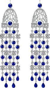 jewelry fine jewelry blue sapphire and diamond chandelier earrings 91327300