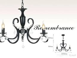 decoration modern 3 light black iron chandelier candle lighting restaurant dining room living crystal ikea