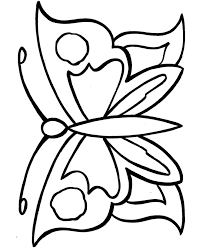 Printable Geometric Butterflies Coloring Pages Objects Early