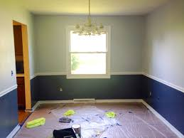 Two Tone Wall Painting Ideas Inaracenet - Dining room two tone paint ideas
