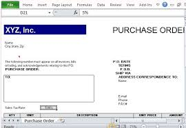 purchase order excel templates purchase order template for excel