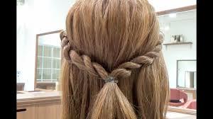 簡単なのに編み込み風ねじってくるくるロープ編みのヘアアレンジ
