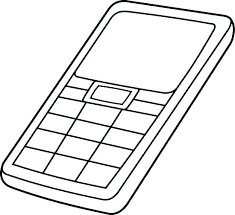 Phone Coloring Page Cell Phone Coloring Pages Phone Coloring Pages