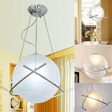 led modern glass ball ceiling light suspension pendant lamp fixture home decor