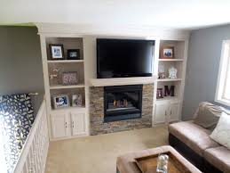 fireplace makeover with built in shelving construction2style on remodelaholic