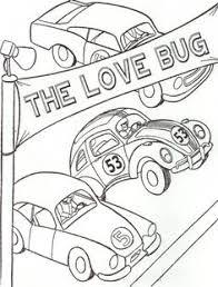 f49d16b3ec1e2dd1b30765d7497aaa9f page from herbie the love bug coloring book volkswagen herbie on love bug printable