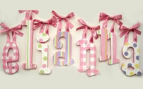 elianna custom painted hanging wood wall letters for