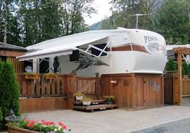 deck ideas. Deck Ideas Camper Stained Wrapped