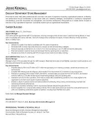 Resume Examples Retail Manager Sample Management Resumes Sales ...