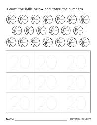 Printable Numbers Worksheet Tracing Numbers 1 Printable Number ...