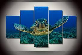 deep sea turtle wall aquarium art picture modern home wall decor print ash wall decor on turtle wall art painting with deep sea turtle wall aquarium art picture modern home wall decor