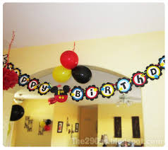 make your own birthday banner the290ss mickey mouse birthday banner tutorial