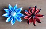 Как сделать цветок из атласной ленточки