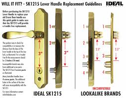 of ideal s handles levers and latches use the same standard hole ingany other brands use the same ings as us so you can use our handle