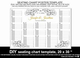 Poster Seating Charts For Wedding Receptions Wedding Seating Chart Poster Template Printable Reception