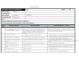 Noise Risk Assessment Template Job Hazard Analysis Fresh
