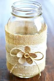 Decorating With Mason Jars And Burlap Mason Jar Centerpieces With Burlap Lace 1