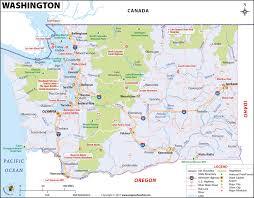Washington State Mileage Chart Washington Map Map Of Washington U S State Wa Map