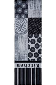 zala living cook clean grey black kitchen runner