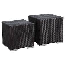 weather wicker sectional set black
