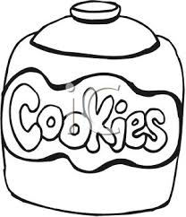 cookie jar clipart black and white. Clip Art Black And White Cookie Jar Clipart