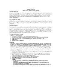 Writing A Good Resume Objective New Resume Overview Examples Best Writing A Good Resume